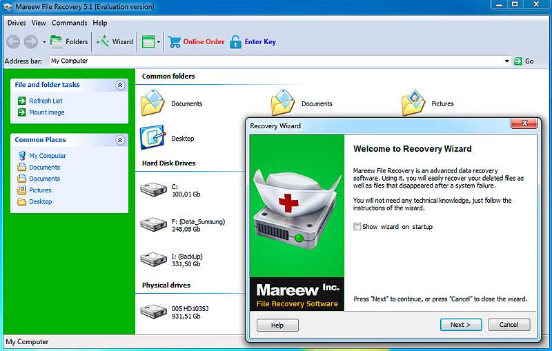 Click to view Mareew File Recovery 1.16.3 screenshot
