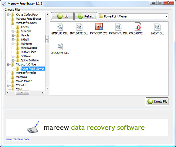 Mareew Free Eraser screenshot